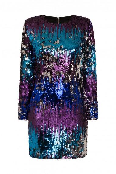 TFNC Paris Rainbow Sequin Dress