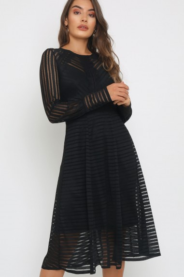 TFNC Evie Black Midi Dress