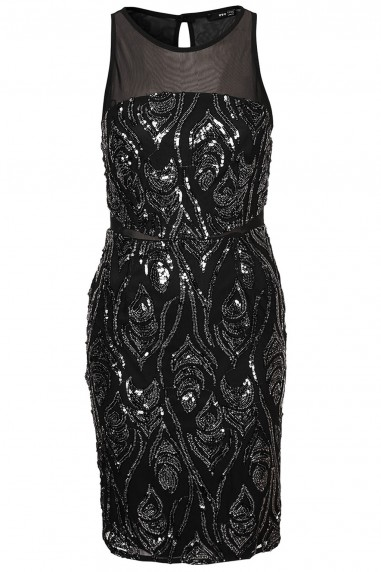 TFNC Remy Black Sequin Dress