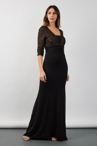 TFNC Amora Black Maxi Dress