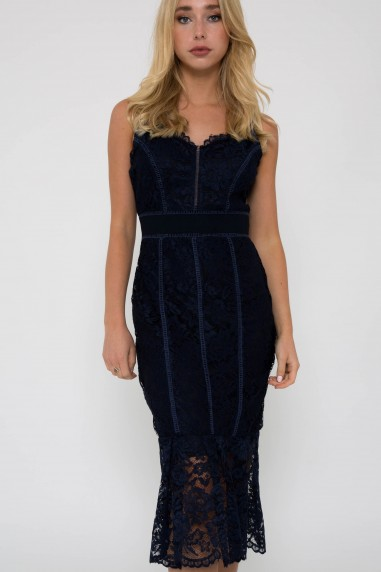 TFNC Nette Navy Midi Dress
