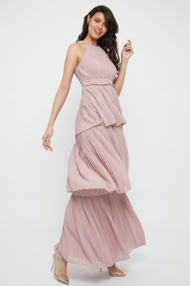 TFNC Veerle Pale Mauve Maxi Dress