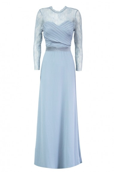 TFNC Cimmaron Light Blue Maxi Dress