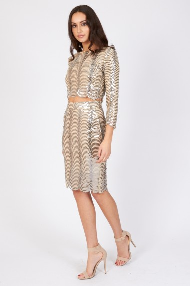 TFNC Scallop Sequin Skirt