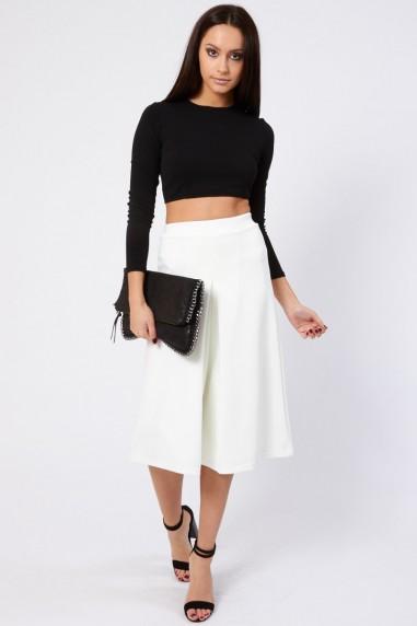 TFNC Jupe White Culottes Shorts
