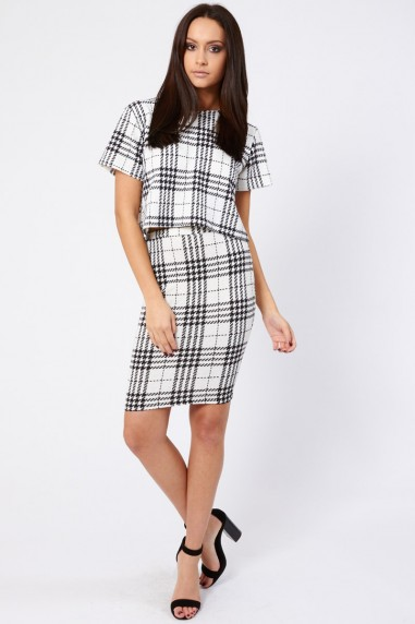 TFNC Jane Plaid Midi Skirt