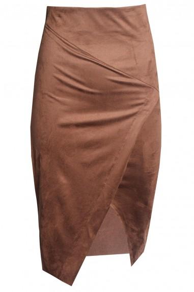 TFNC Leena Tan Midi Skirt