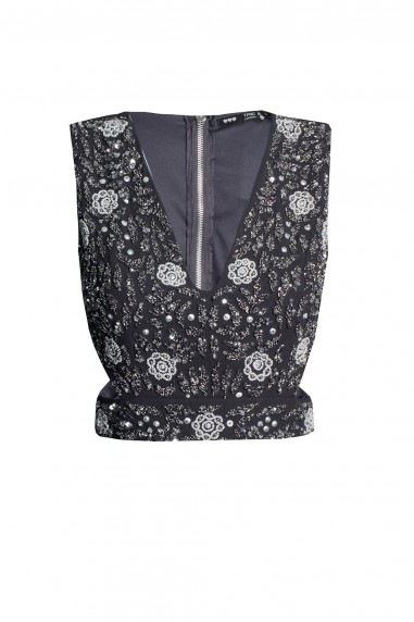 Lace & Beads Vera Navy Top