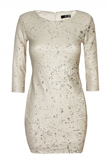 TFNC Paris Nude Sequin Dress