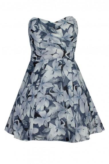TFNC Minnie Blue Bandeau Dress