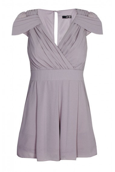 TFNC Hadie Grey Playsuit