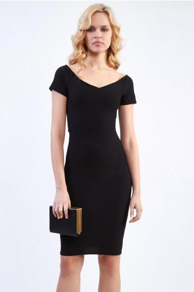 TFNC Shela Black Midi Dress
