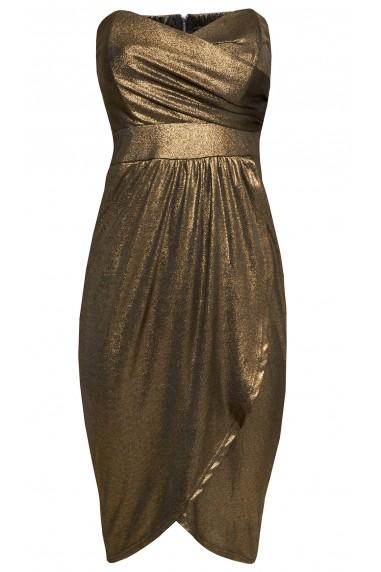 TFNC Oliria Foil Midi Dress