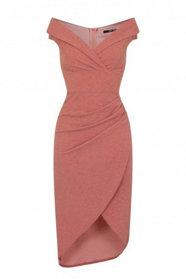 TFNC Kamia Scuba Pink Midi Dress