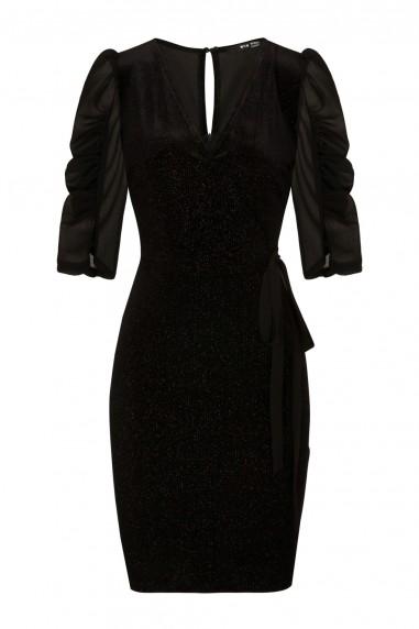 TFNC Tamia Black Midi Dress