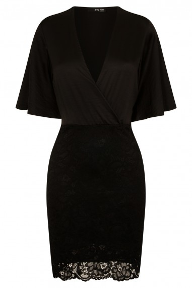 TFNC Dounia Black Midi Dress