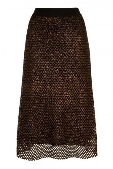 TFNC Aloha Gold Midi Skirt