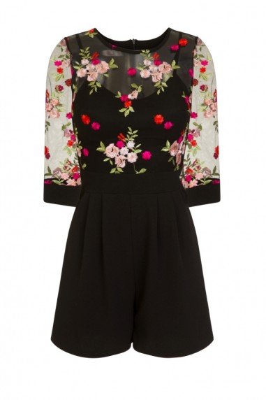 WalG Floral Black Playsuit