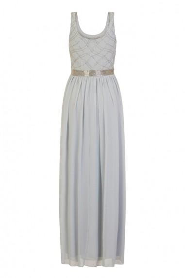 Lace & Beads Shae Sky Blue Maxi Dress
