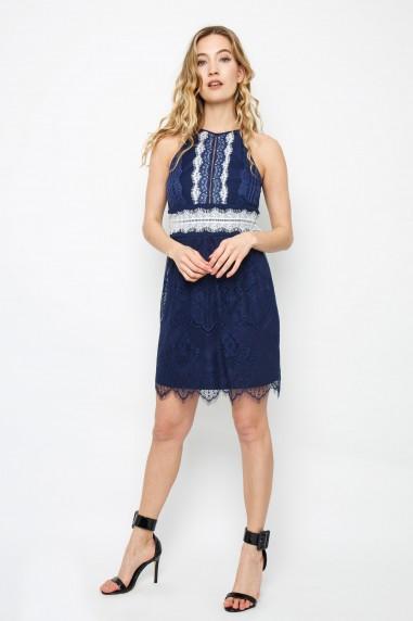 TFNC Bridget Navy Midi Dress