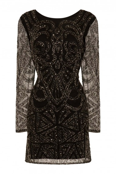 Lace & Beads Brooklyn Black Embellished Dress