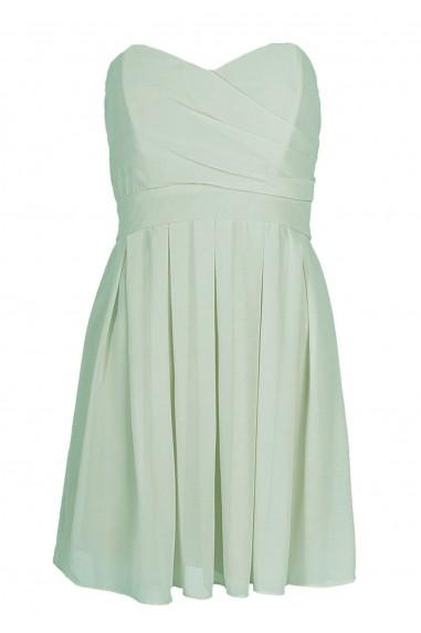 TFNC Elida Mint Chiffon Dress