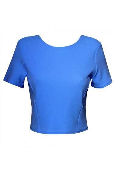TFNC Reda Blue Crop Top
