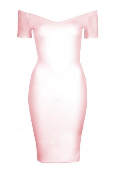 TFNC Shela Pink Midi Dress