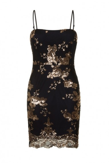 WalG Sequin Black Mini Dress
