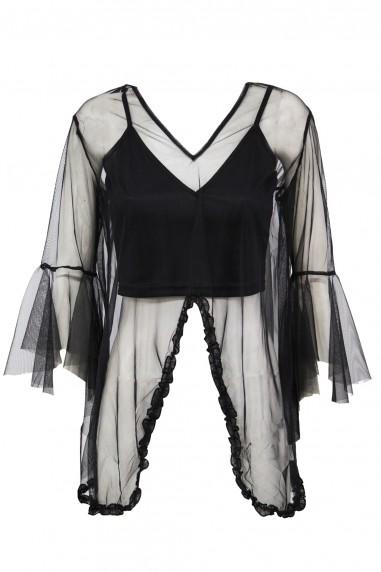 Lace & Beads Yuki Black Top