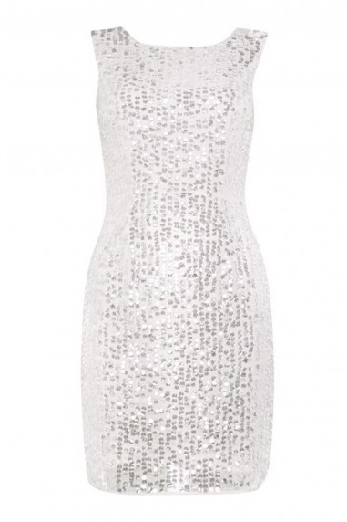 Lace & Beads Marissa White Embellished Dress