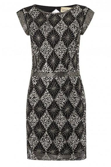 Lace & Beads London Black Embellished Dress