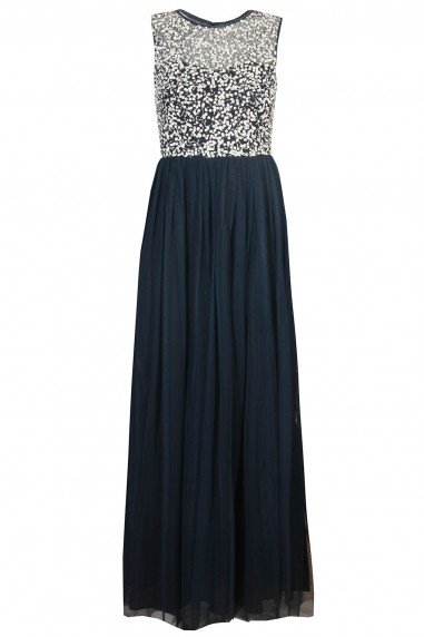 Lace & Beads Belle Navy Maxi Dress