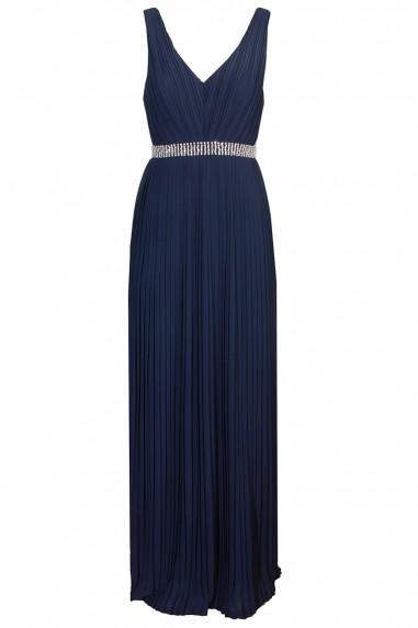 TFNC Danae Navy Maxi Embellished Dress