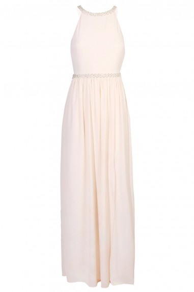 TFNC Laverne Nude Maxi Embellished Dress