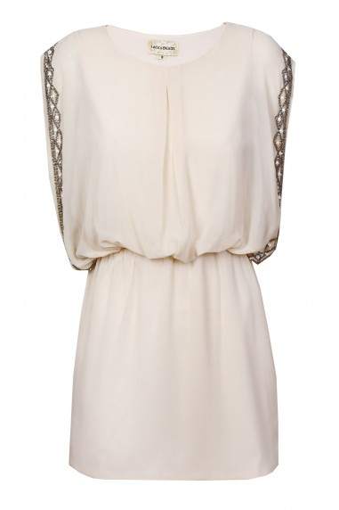 Lace & Beads Sharon Nude Dress