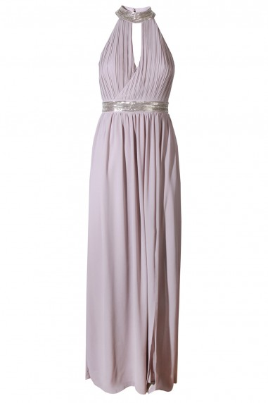 TFNC Leonlle Grey Maxi Embellished Dress
