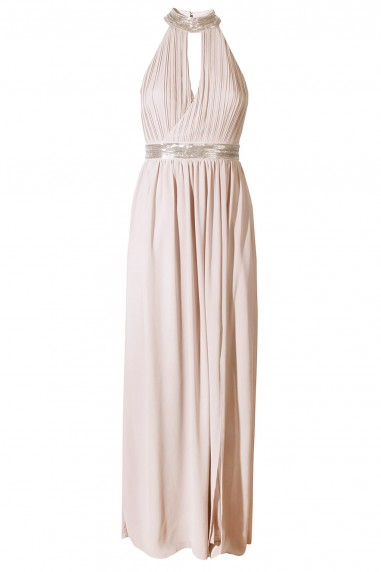 TFNC Leonlle Nude Maxi Embellished Dress