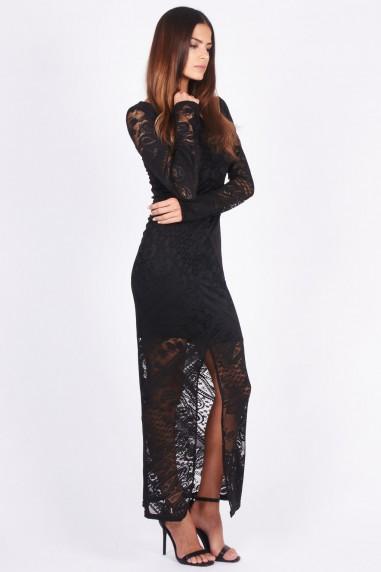 TFNC Ameena Black Lace Maxi Dress