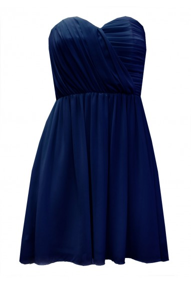 TFNC Anabella Navy Chiffon Dress