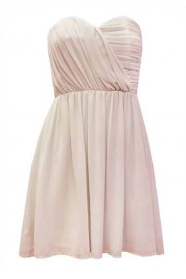 TFNC Anabella Nude Chiffon Dress