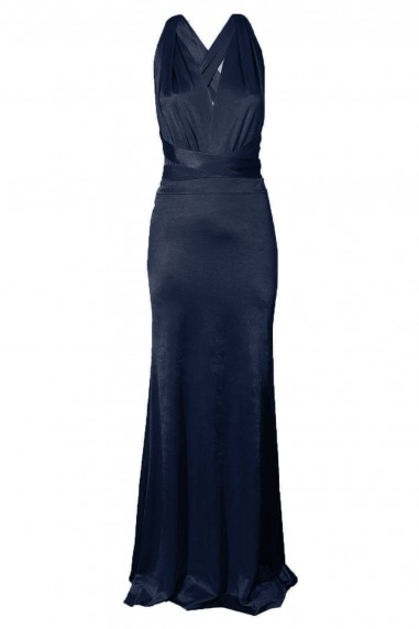TFNC Multi Way Navy Sheen Maxi Dress