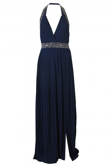 TFNC Chello Navy Maxi Embellished Dress