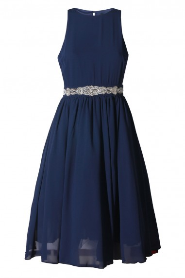 TFNC Ambre Embellished Navy Midi Dress