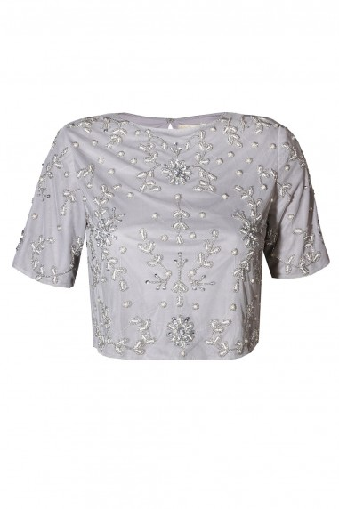 Lace & Beads Anna Grey Top
