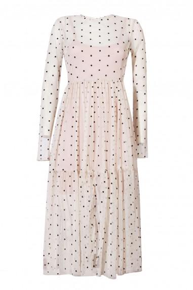 Lace & Beads Lola Nude Sheer Dress