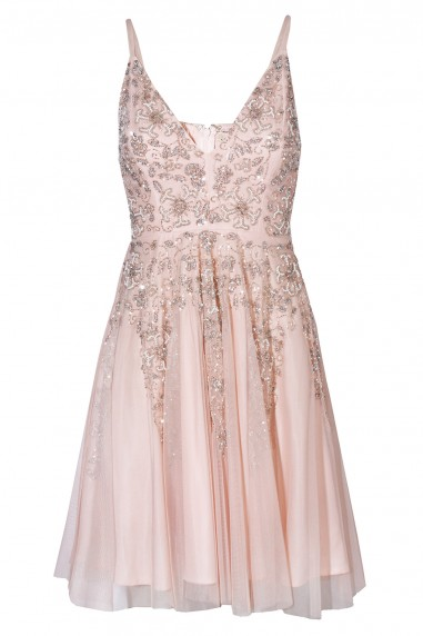 Lace & Beads Roxanne Pink Dress