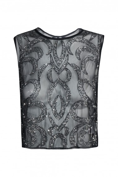 Lace & Beads Brooklyn Black Top