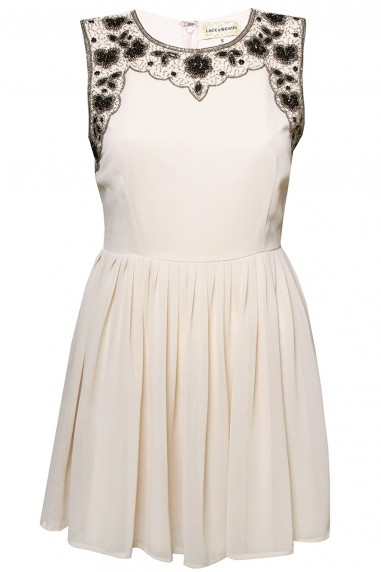 Lace & Beads Becky Beige Dress