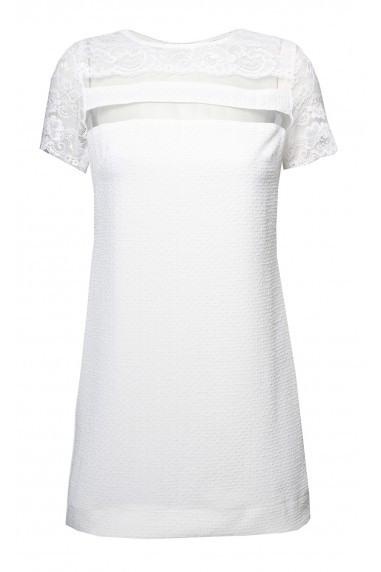 TFNC Amber White Lace Detail Dress
